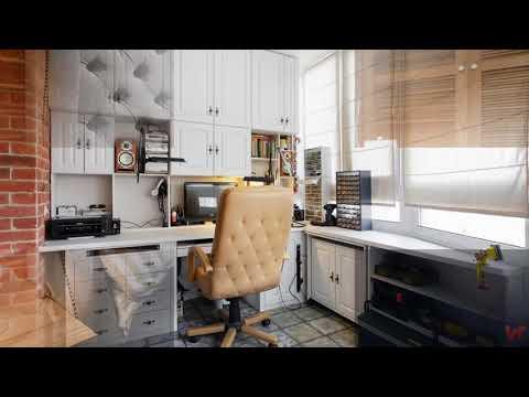 Необычный дизайн квартиры для творческой семьи. Площадь 78 кв м