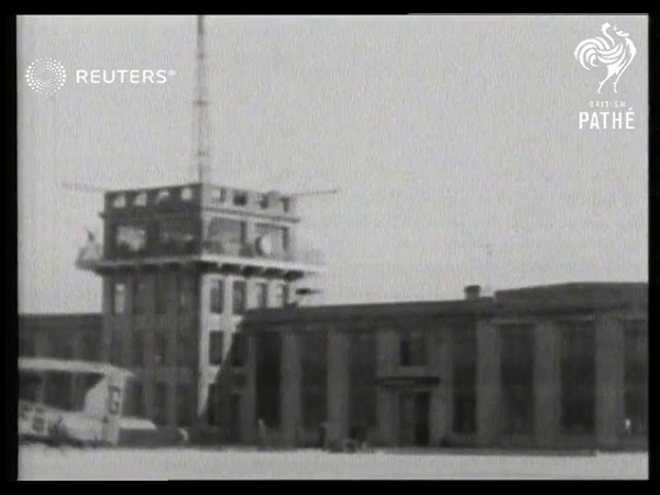 TRANSPORT Aviation New terminal at Croydon Airport opens at a cost fo 260,000 (1928)