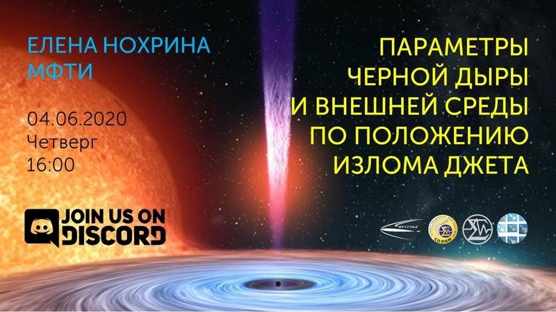 Елена Нохрина Параметры черной дыры и внешней среды по положению излома джета