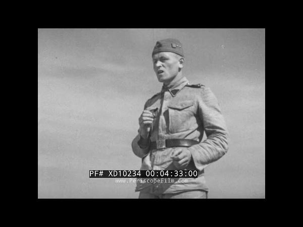 WWII GERMAN FILM INSTALLATION OF STANDARD GAUGE RAILROAD SWITCH TRACK (SILENT) XD10234
