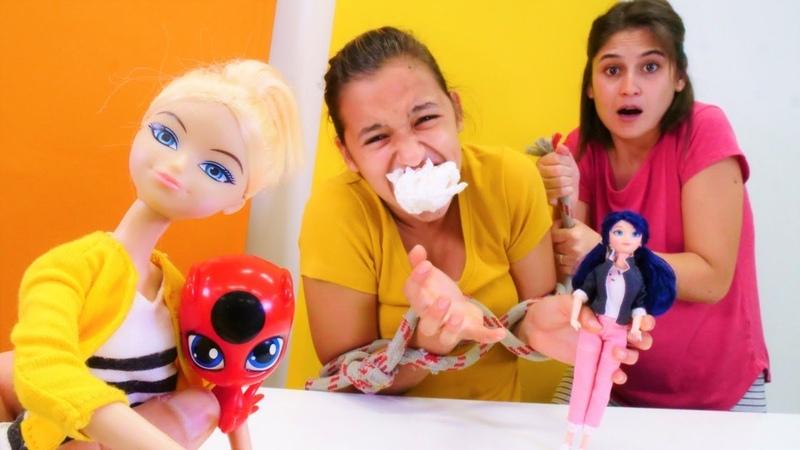 Uğur böceği ile oyun videosu Tiki kayboluyor Asu Ela ve Marinette'in yeni macera