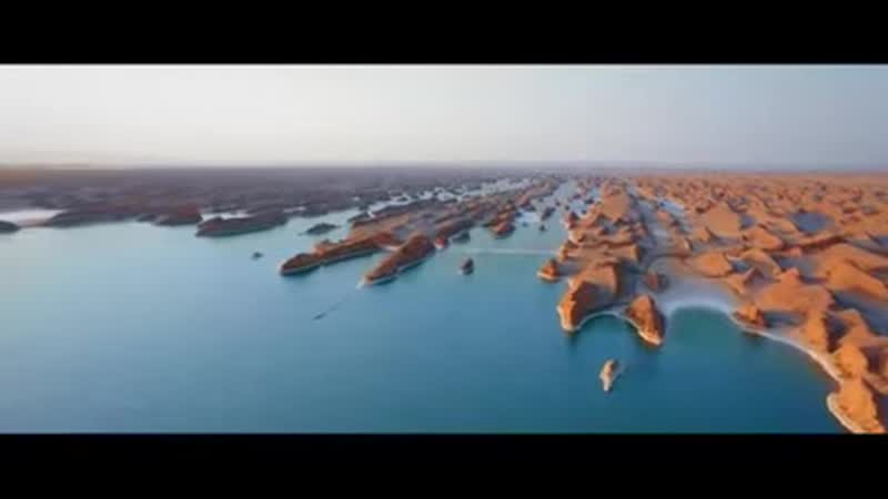 2020 intense rains create a new lake only a few kilometers from the hottest spot in earth Shahdad desert