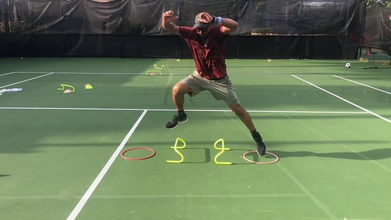 Tennis Fitness Training footwork agility balance explosiveness speed with Coach Dabul