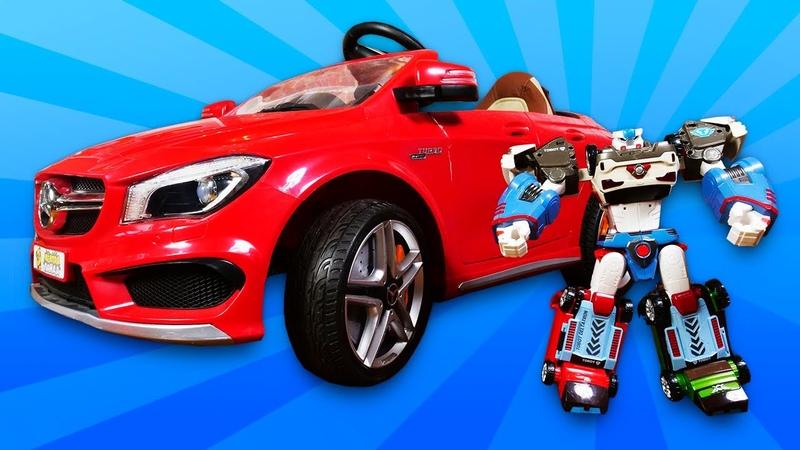 Homem Aranha vai à oficina mecânica e Tobot precisa de reparos Vídeo com brinquedos para crianças