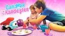 Çocuklar için oyun videoları Canavar Kardeşler Adrian bebekler için hediye alıyor
