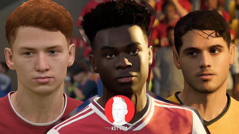Facepack №5 EPL van den Berg Saka Neto FIFA 20