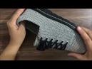 ÖRGÜ ERKEK SPOR AYAKKABISI YAPILIŞI 1.BÖLÜM (TEK RENK) knitting,shoes