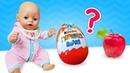 Беби Бон Как мама - Киндер сюрприз или яблоко Полезная еда - Мультики для детей