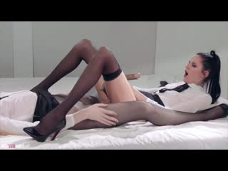 Office Girls - Mia Rossy Bush Strapless Dildo Fuck (PORN SEX ANAL BIG TITS ASS TEEN MILF)