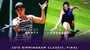 Ashleigh Barty vs Julia Goerges 2019 Birmingham Classic Final WTA Highlights