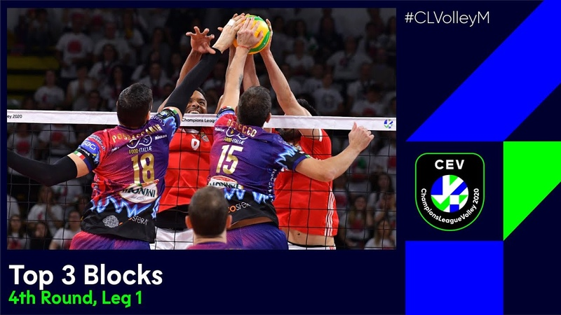 CLVolleyM | Top 3 Blocks - 4th Round, Leg 1
