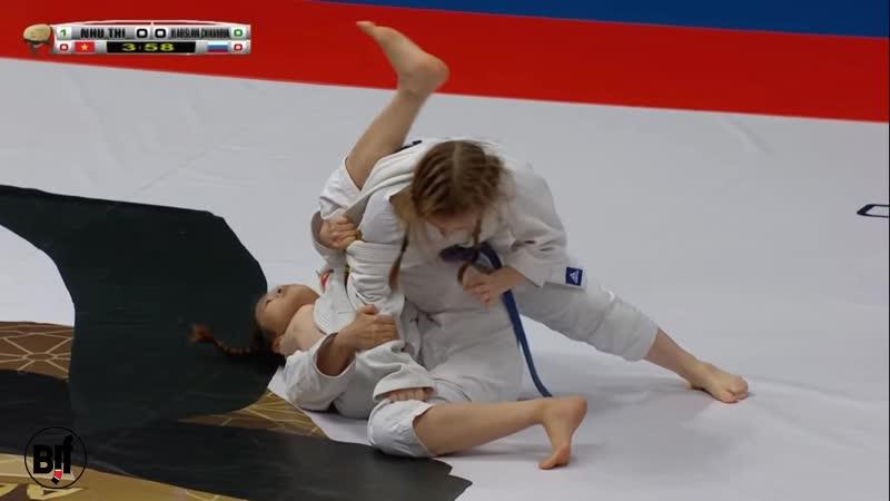 Nhu Thi vs Vladislava Chikanova fin JU-JITSU WORLD CHampionship 2019