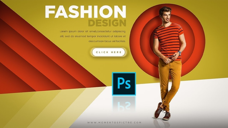 Modern Color Shape Fashion Ecommerce Banner Design In Photoshop