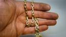 Якорная цепь. Не плотное плетение. Мужская золотая цепь вес 60гр