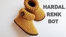 BU PATİK OLAY 😍 HARDAL RENK HARİKA BİR BOT ÖRÜYORUZ 20 21 NO Baby boy crochet booties