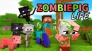 Monster School Enderman's Life Part 5 with ZOMBIE PIGMAN's Life BEST Minecraft Animation