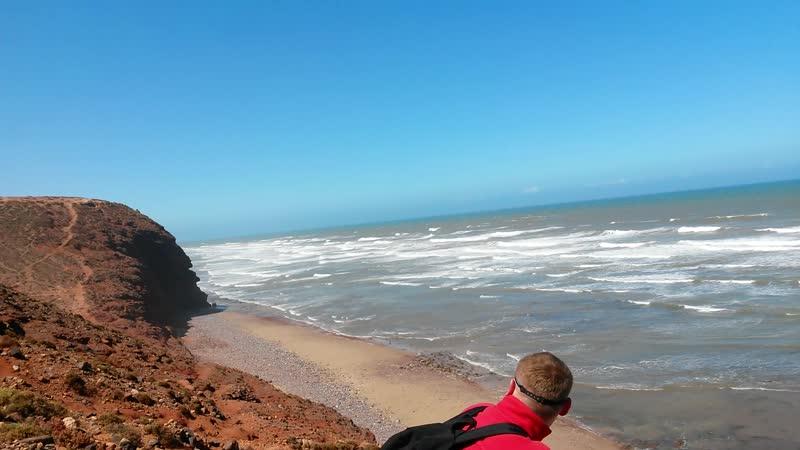 Марокко Апрель 2019 Атлантический океан на побережье в Сиди Ифни