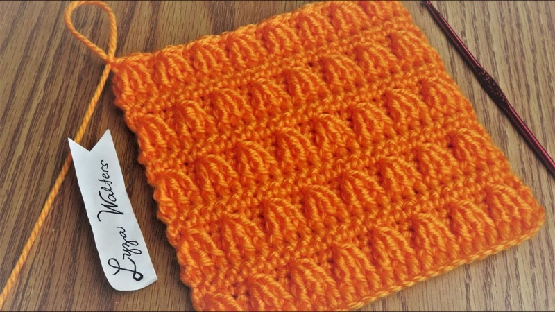 Crochet front post treble cluster Stitch idea for blankets and scarves