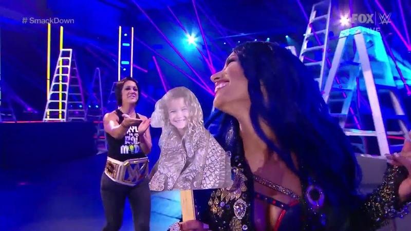 SB Group Sasha Banks Bayley Entrance SmackDown Live April 24 2020