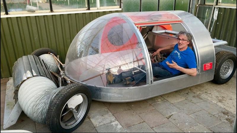 Wind turbine cars, whimsical houseboats bikes of Oskar de Kiefte