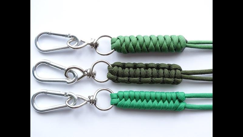DIY-Top 3 Easiest Paracord Neck-Knife-Keychain Lanyard - Cobra-Snake-Fishtail Knot – CBYS