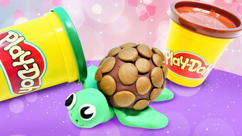 Okul öncesi etkinlikleri Play Doh oyun hamuru ile kaplumbağa yaıyoruz