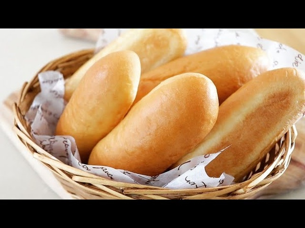 How to make an easy and fluffy hot dog buns/Homemade Hot Dog Bread/knead bread by hand/손반죽 핫도그번 만들기