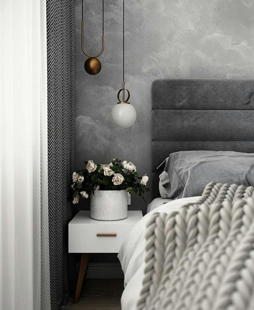 Проект комнаты с зонированием на спальню и гостиную