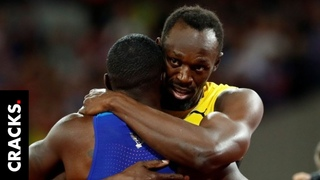 Usain Bolt perdió su última carrera pero el campeón se arrodilló