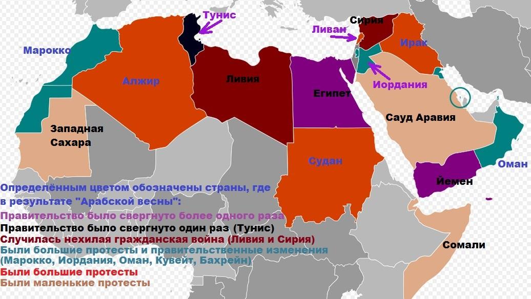 """последствия """"Арабской весны"""""""