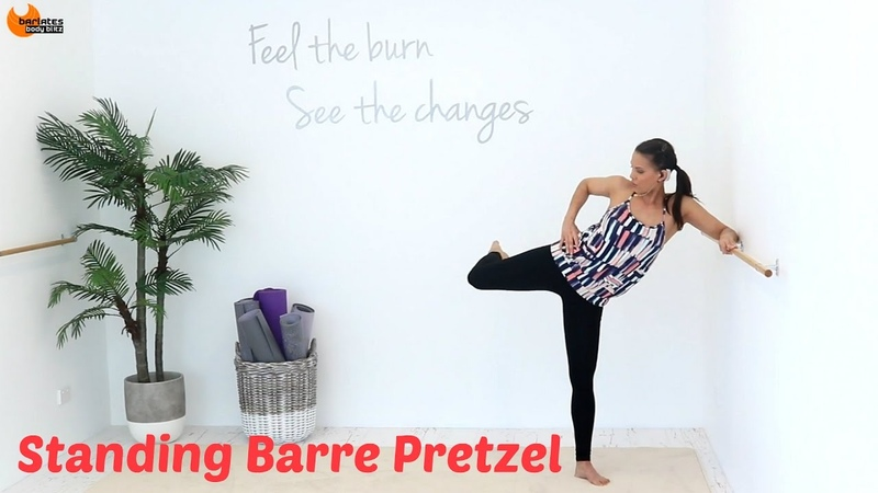 BALLET BARRE WORKOUT Outer Thighs Barlates Standing Barre Pretzel with Linda Wooldridge