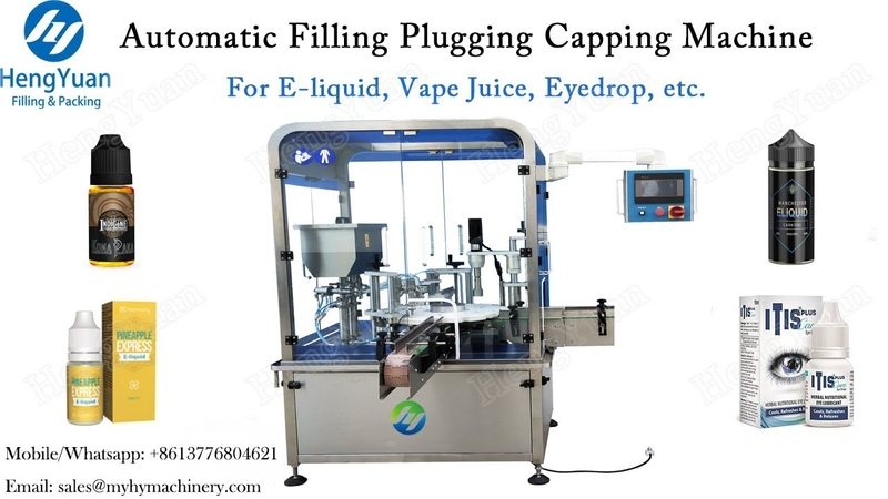 Automatic Filling Plugging Capping Machine for E liquid Bottling Filler