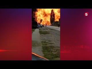 Момент мощнейшего взрыва на заправке в Чечне сняли на видео