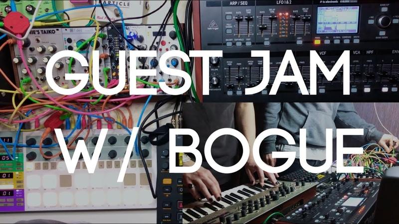 BOGUE x Plee Eurorack Guest Jam on Behringer Deepmind S12D Dark Dub Techno Theme for Cyberpunk 2077