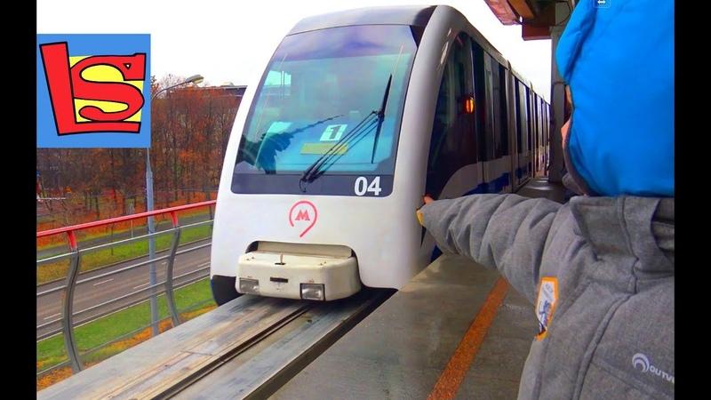 Городские поезда Монорельс Видео для детей