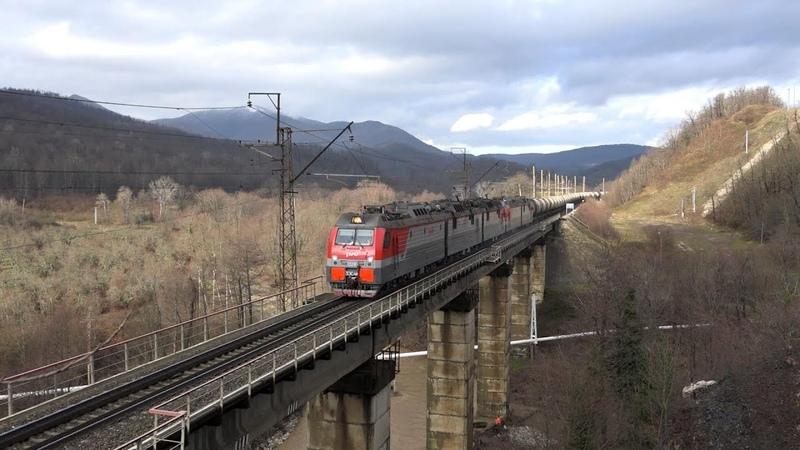 Поезда Краснодарского края часть 4