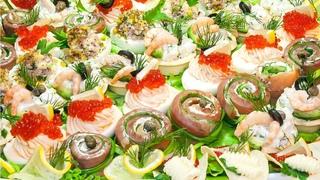 ТОП 5 идеальных закусок на Новый Год! Вкусные закуски Праздничное ассорти