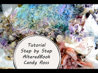 МК АльтередБук Сахарная Вата|Tutorial Step by Step AlteredBook Candy floss by Ragozina Olya
