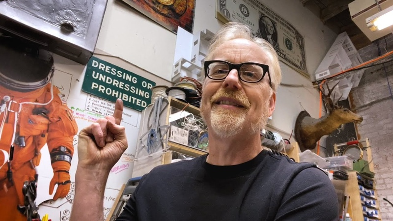 The Story of Adam Savage's Contradictory Wall Sign