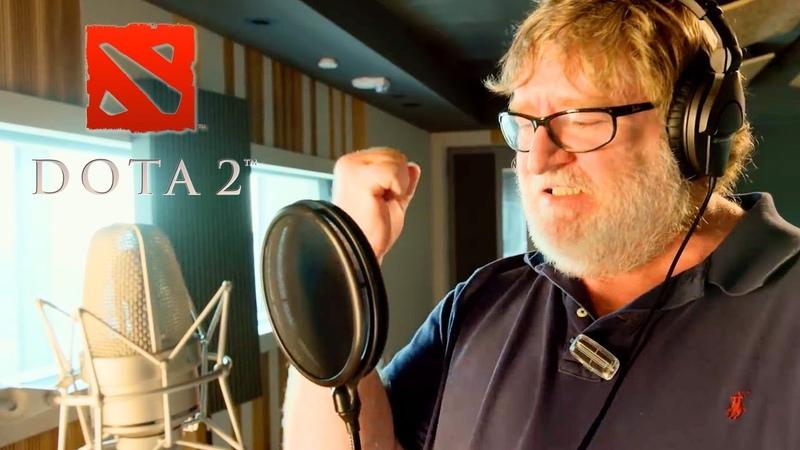 Dota 2 Gabe Newell Mega Kills Announcer Pack Trailer Gamescom 2018