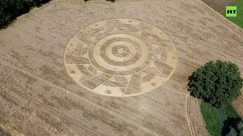 Alien Signs 'Mysterious' crop circle appears on Bavarian field