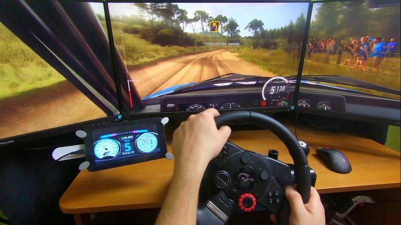 3 монитора Volkswagen Golf GTI 16V Dirt Rally 2.0 Под конец ошибся пришел 2м Руль 900