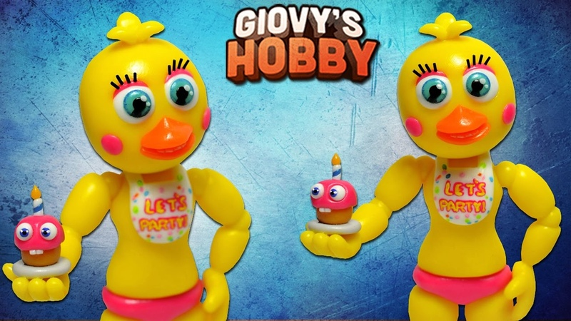 ✔ADVENTURE TOY CHICA TUTORIAL ➤ FNAF WORLD ★ Porcelana fria Polymer clay ✔ Giovy Hobby