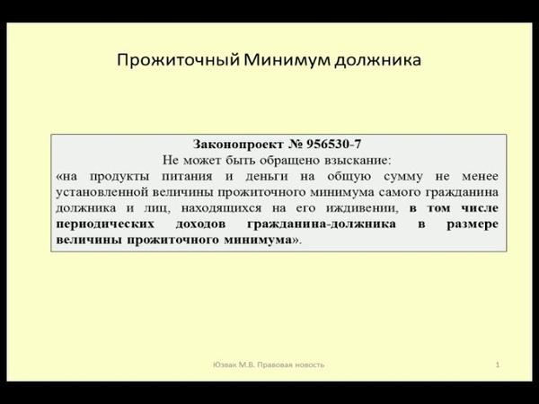 Сохранение МРОТ для должника при взыскании limitation of debt collection