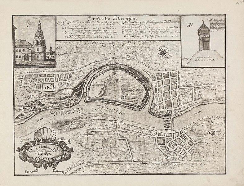 План города Торжок в 1674 году