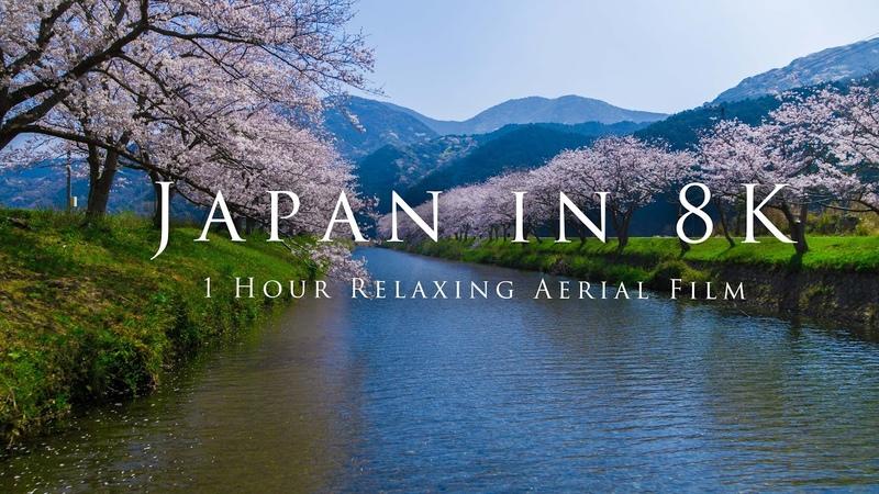 Japan in 8K 1 Hour Relaxing Aerial Film
