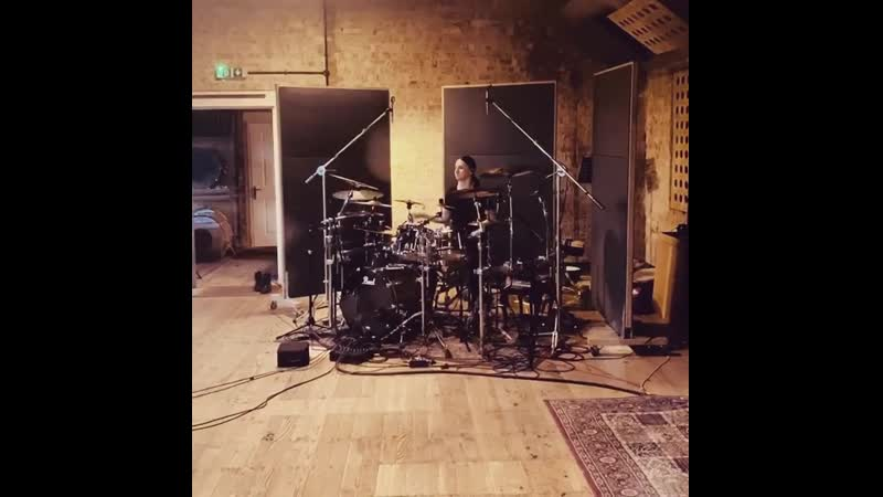 Waltteri Väyrynen tracking the drums for Obsidian | Orgone studios, October 2019