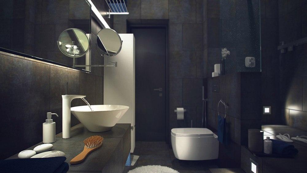 Проект квартиры-лофта площадью 77 кв.