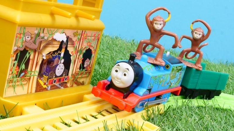 Construimos un ferrocarril de juguete para un mono Trenes para niños