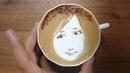 本日の暇カプチーノ、『佐藤すみれさん』。 ラテアート Latteart SumireSatou